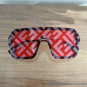 Square Red Sunglasses